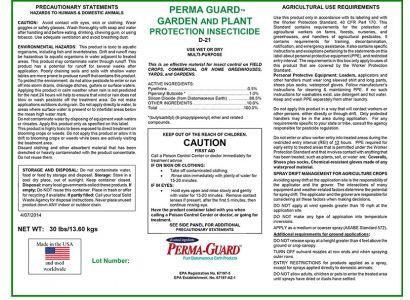 Garden & Plant Insecticide D-21 30lb Bag